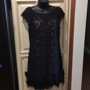 Jessica Simpson cocktail dress black/flesh